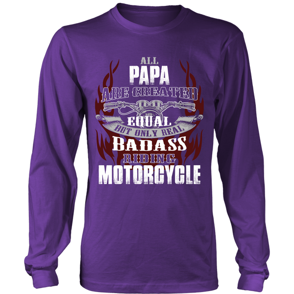Created Equal Papa Motorcycle T-Shirt - Papa Motorcycle Shirt - TeeAmazing - 6