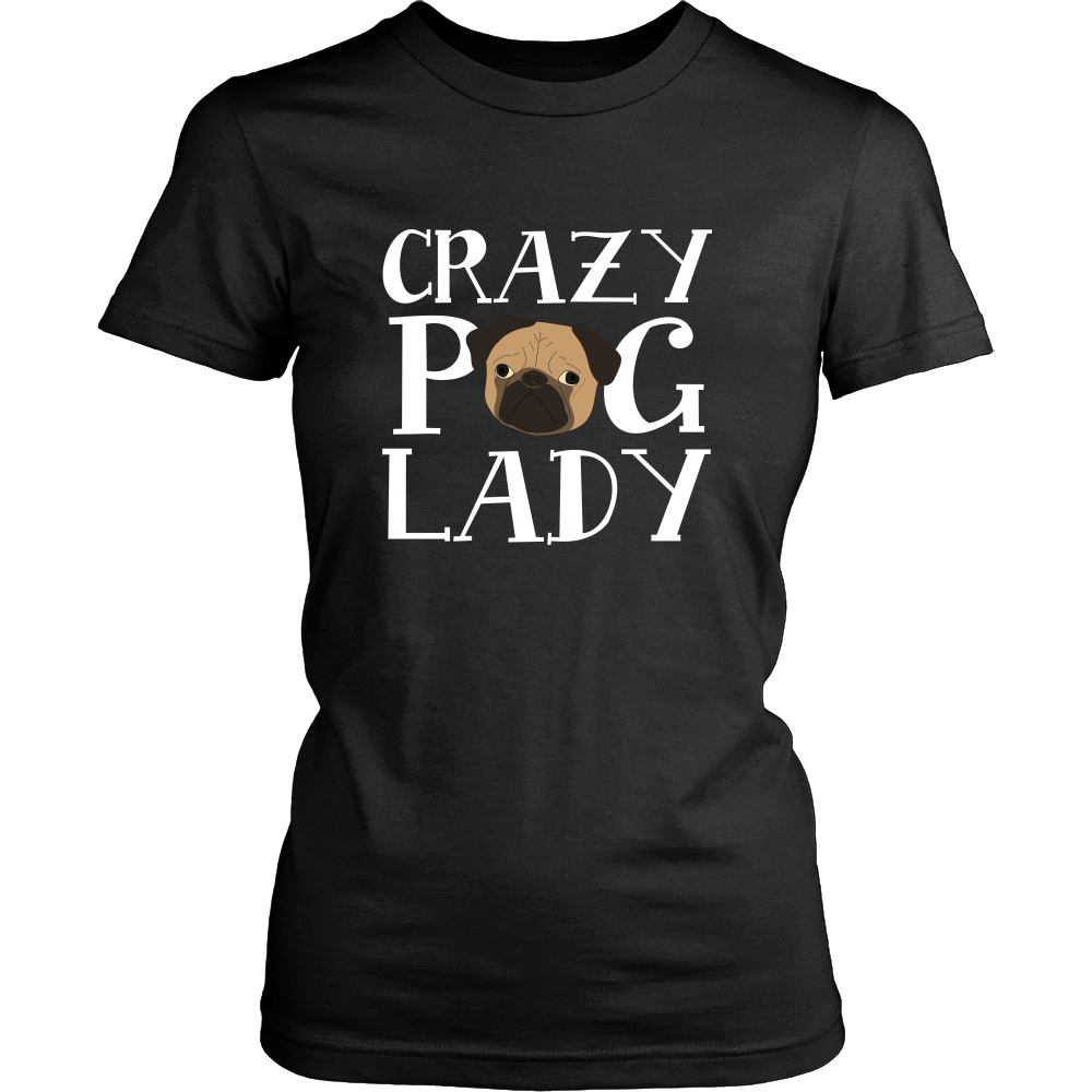 Crazy Pug Lady Dog T Shirts, Tees & Hoodies - Pug Shirts - TeeAmazing
