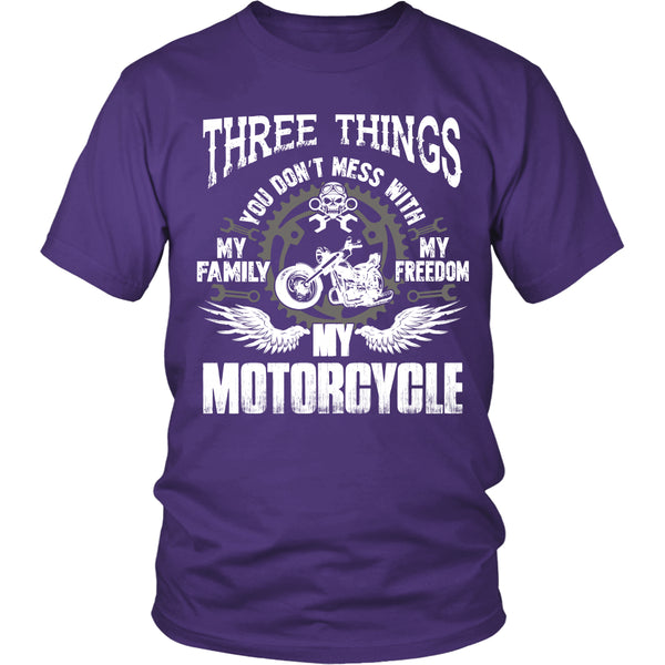 Three Things...My Motorcycle T-Shirt - Motorcycle Shirt - TeeAmazing - 3