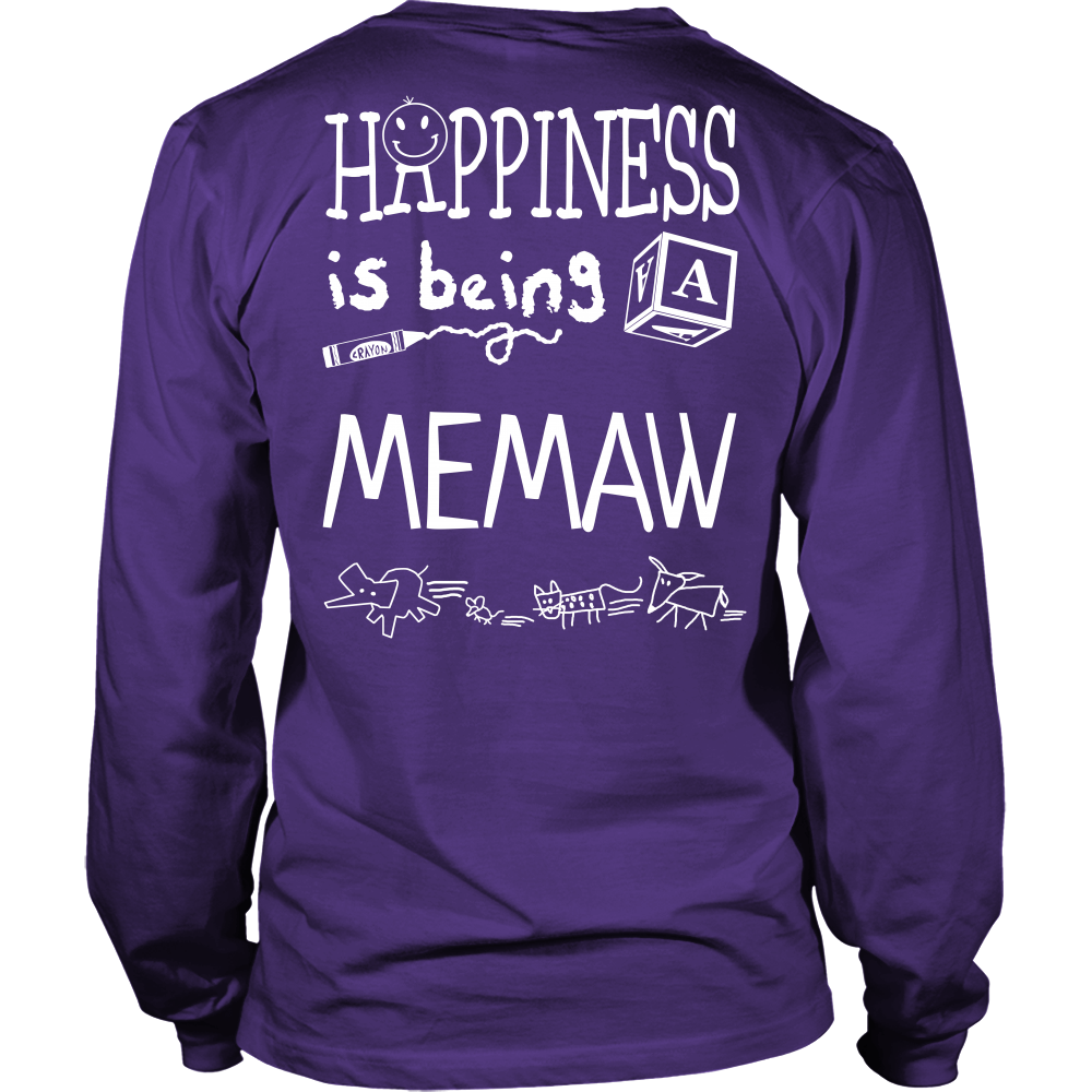 Happiness is Being Memaw T-Shirt - Memaw Shirt - TeeAmazing