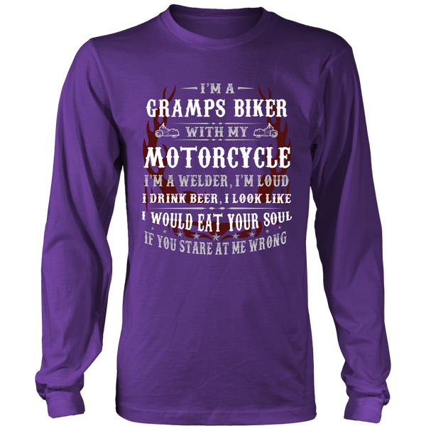Gramps Biker With My Motorcycle T-Shirt - Gramps Motorcycle Shirt - TeeAmazing - 6