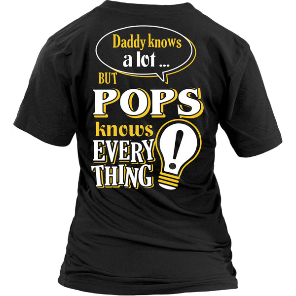 Pops Knows More T-Shirt -  Pops Shirt - TeeAmazing - 26