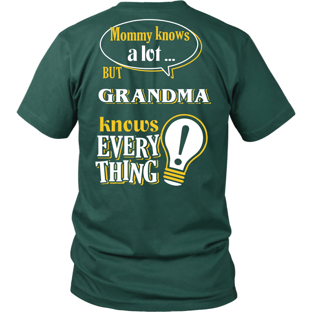 Grandma Knows More T-Shirt -  Grandma Shirt - TeeAmazing