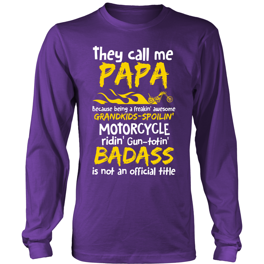 They Call Me Papa Motorcycle T-Shirt - Papa Motorcycle Shirt - TeeAmazing