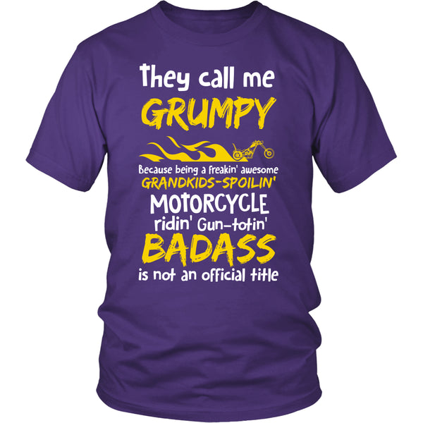 They Call Me Grumpy Motorcycle T-Shirt - Grumpy Motorcycle Shirt - TeeAmazing - 2