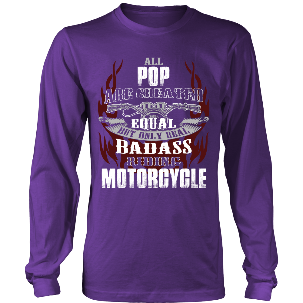 Created Equal Pop Motorcycle T-Shirt - Pop Motorcycle Shirt - TeeAmazing