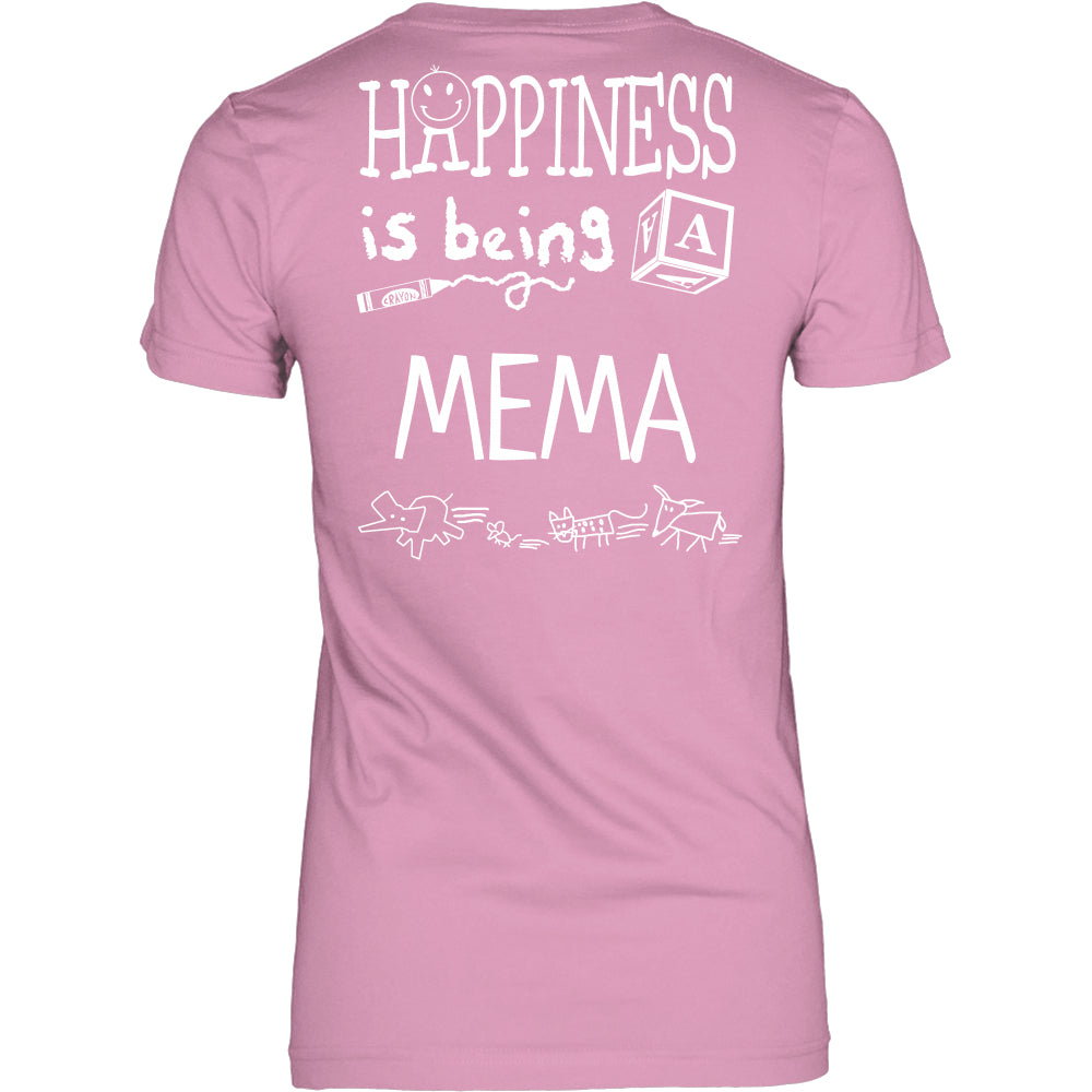 Happiness is Being Mema T-Shirt - Mema Shirt - TeeAmazing