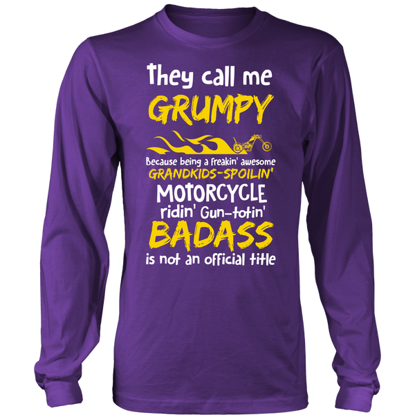 They Call Me Grumpy Motorcycle T-Shirt - Grumpy Motorcycle Shirt - TeeAmazing - 6