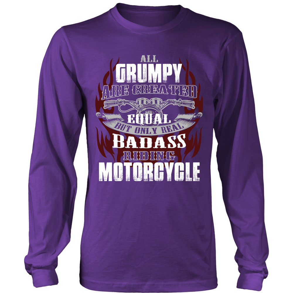 Created Equal Grumpy Motorcycle T-Shirt - Grumpy Motorcycle Shirt - TeeAmazing