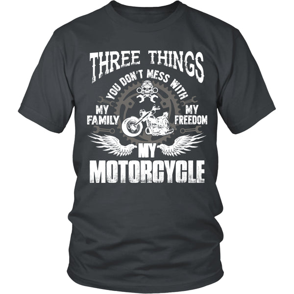 Three Things...My Motorcycle T-Shirt - Motorcycle Shirt - TeeAmazing - 5