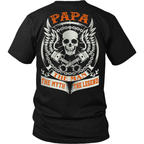 PAPA The Man The Myth The Legend T Shirts, Tees & Hoodies - Grandpa Shirts - TeeAmazing