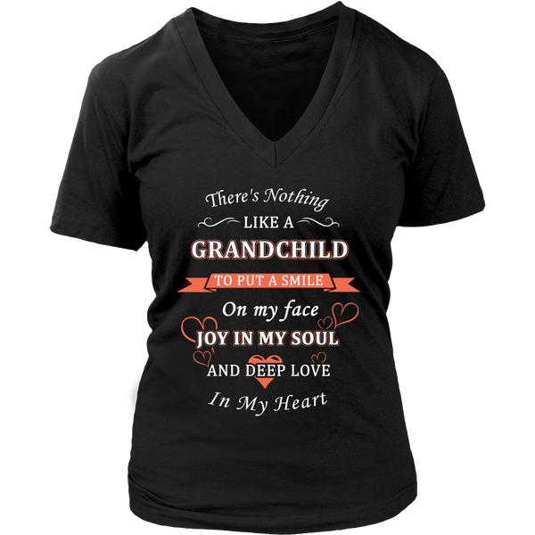 Grandchild Put a Smile On My Face T Shirts, Tees & Hoodies - Grandma Shirts - TeeAmazing