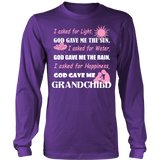 God Gave Me Grandchild T-Shirt - Grandma Shirt - TeeAmazing