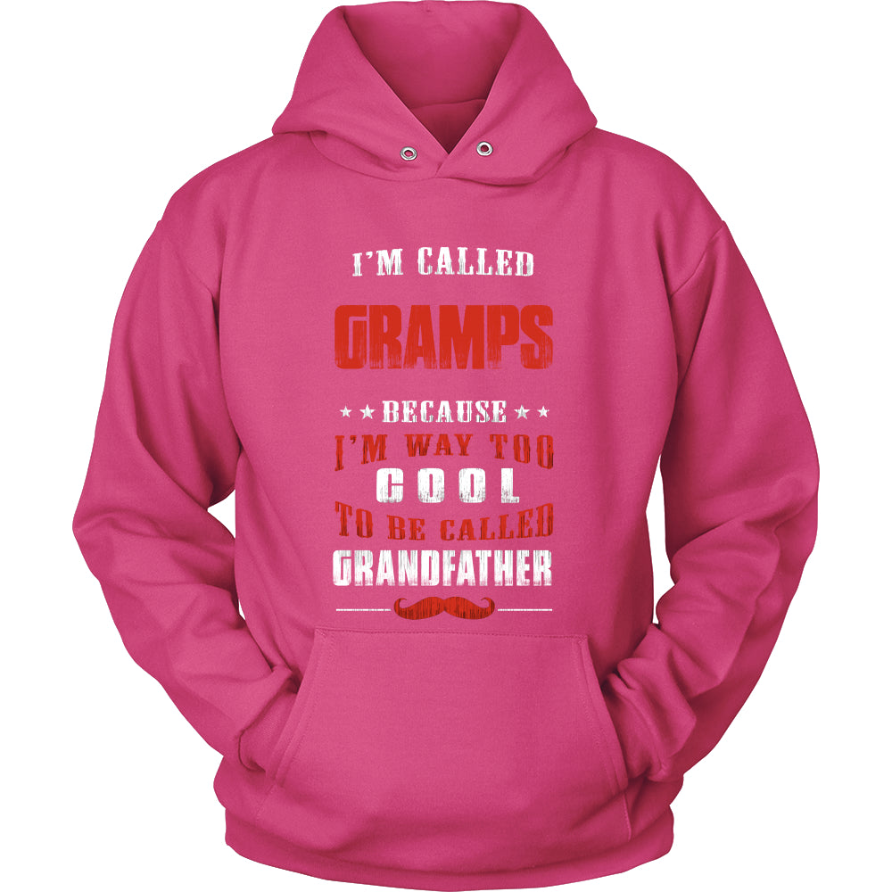 Gramps Way Too Cool Grandfather T-Shirt - Gramps Shirt - TeeAmazing
