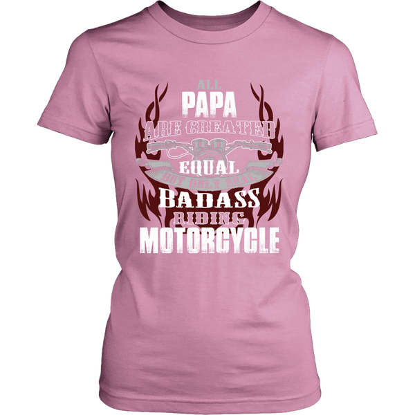 Created Equal Papa Motorcycle T-Shirt - Papa Motorcycle Shirt - TeeAmazing - 11