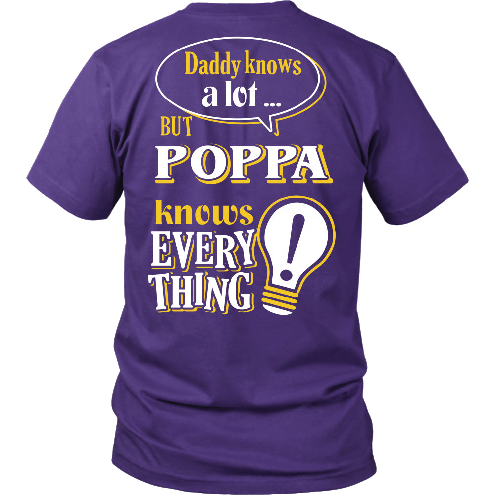 Poppa Knows More T-Shirt -  Poppa Shirt - TeeAmazing