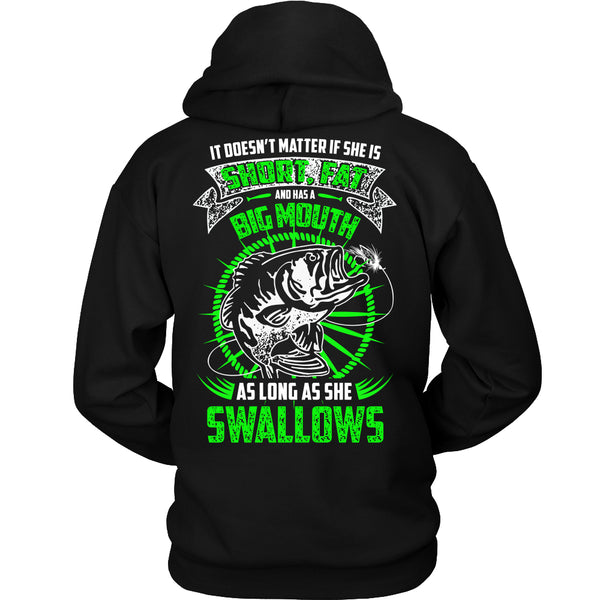 As Long As She Swallows Fishing T-Shirt - Fishing Shirt - TeeAmazing - 1