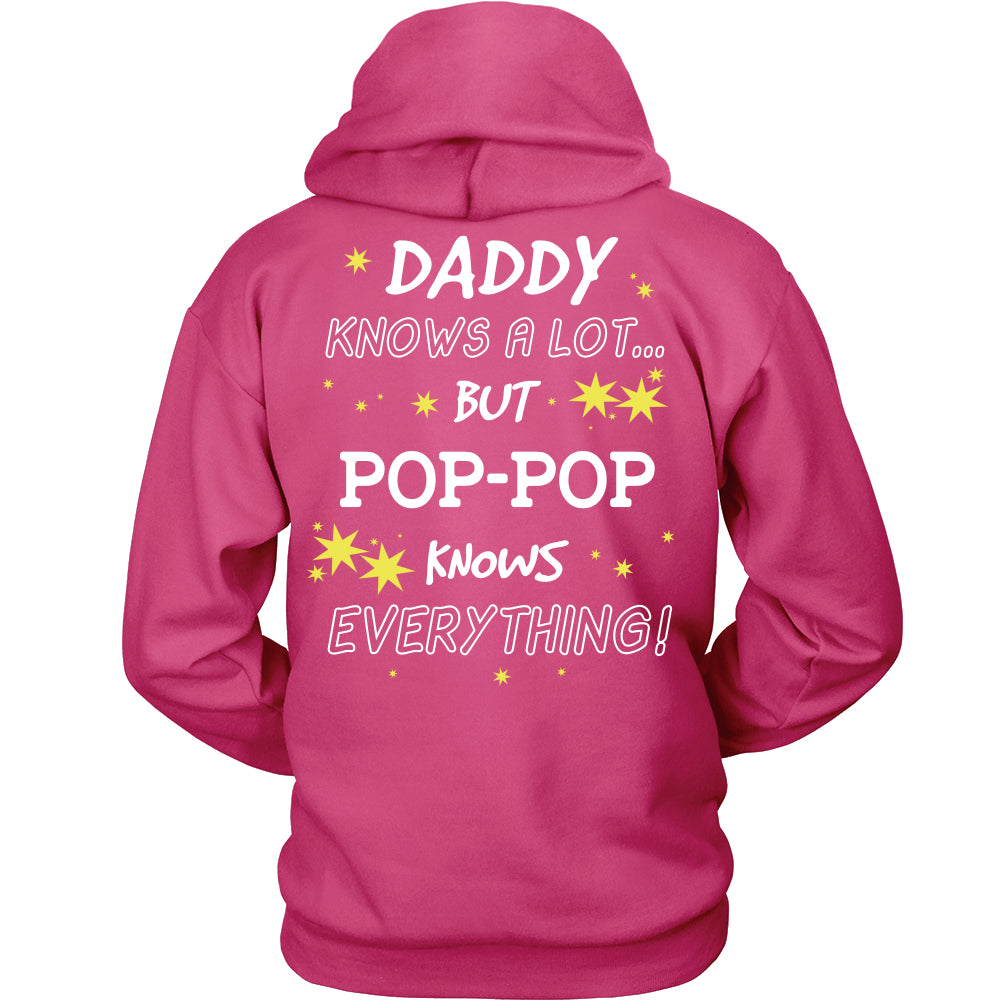 Pop-Pop Knows Everything T-Shirt -  Pop-Pop Shirt - TeeAmazing