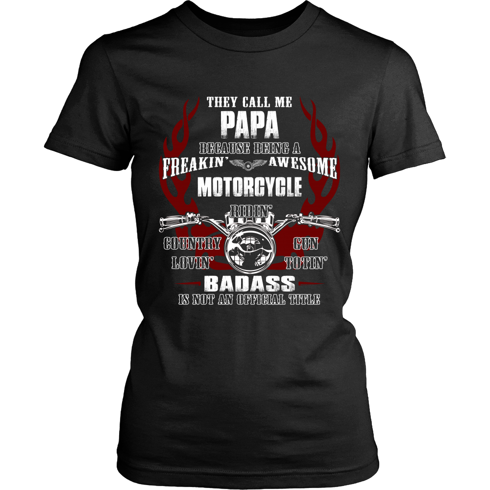 badass papa motorcycle t shirt papa motorcycle shirt. Black Bedroom Furniture Sets. Home Design Ideas