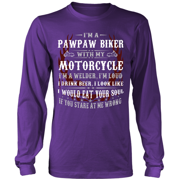 Pawpaw Biker With My Motorcycle T-Shirt - Pawpaw Motorcycle Shirt - TeeAmazing - 6