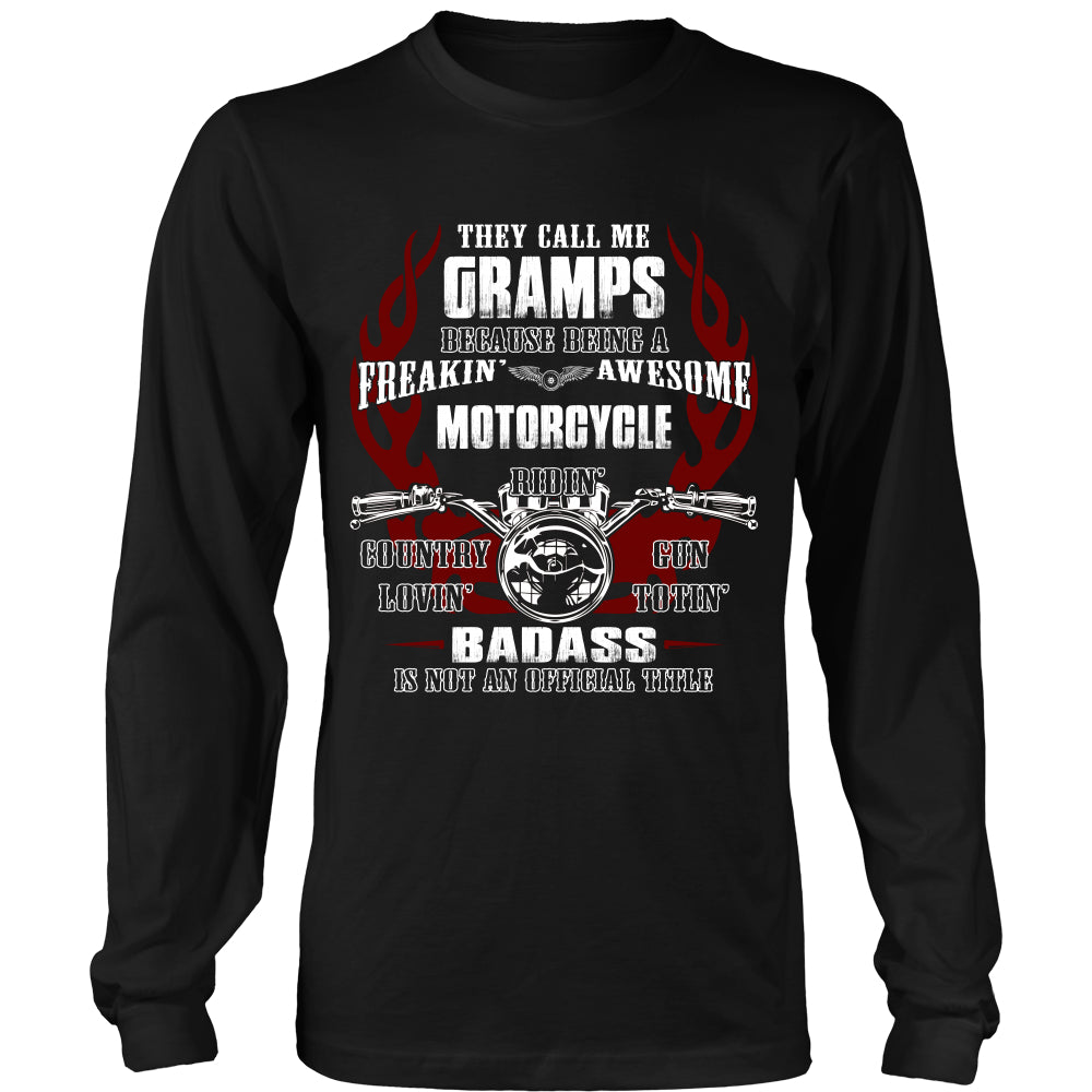They Call Me Gramps Motorcycle T-Shirt - Gramps Motorcycle Shirt DT5200