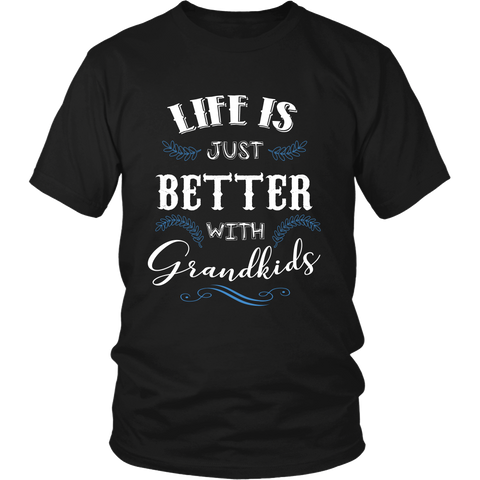Life is Just Better With Grandkids T Shirts, Tees & Hoodies - Grandma Shirts - TeeAmazing - 1