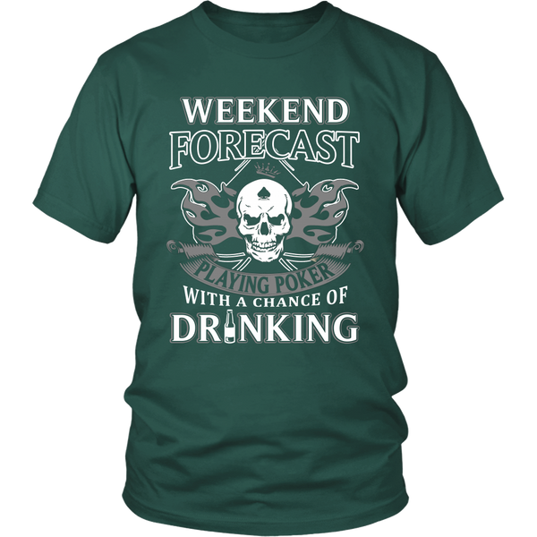 Playing Poker with Drinking T Shirts, Tees & Hoodies - Poker Shirts - TeeAmazing - 4