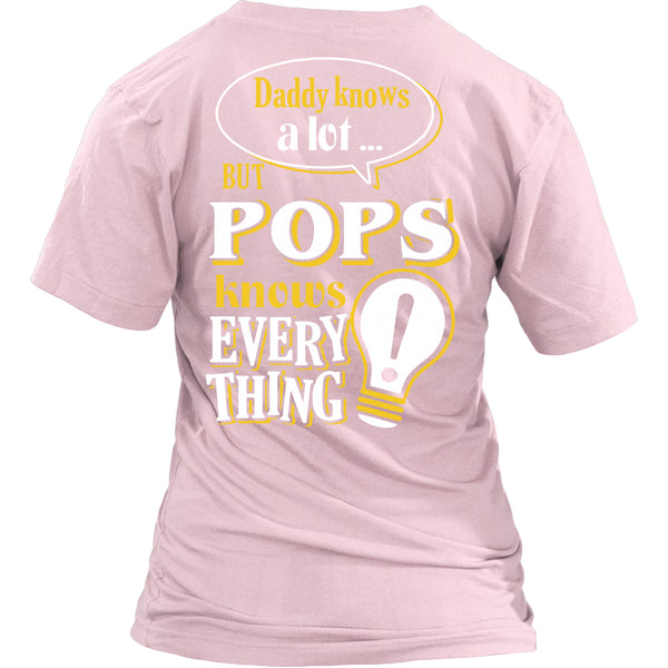 Pops Knows More T-Shirt -  Pops Shirt - TeeAmazing - 24