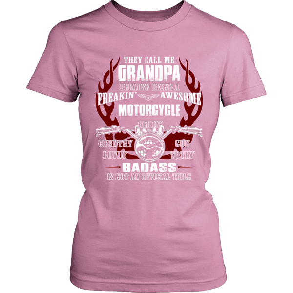 Badass Grandpa Motorcycle T-Shirt - Grandpa Motorcycle Shirt - TeeAmazing