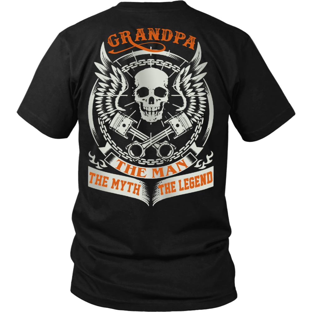 Grandpa The Man The Myth The Legend T Shirts, Tees & Hoodies - Grandpa Shirts - TeeAmazing