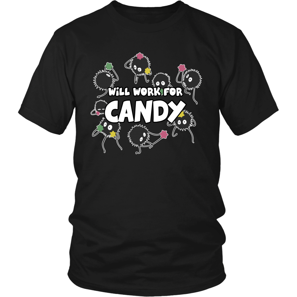Will Work For Candy T Shirts, Tees & Hoodies - Totoro Shirts - TeeAmazing