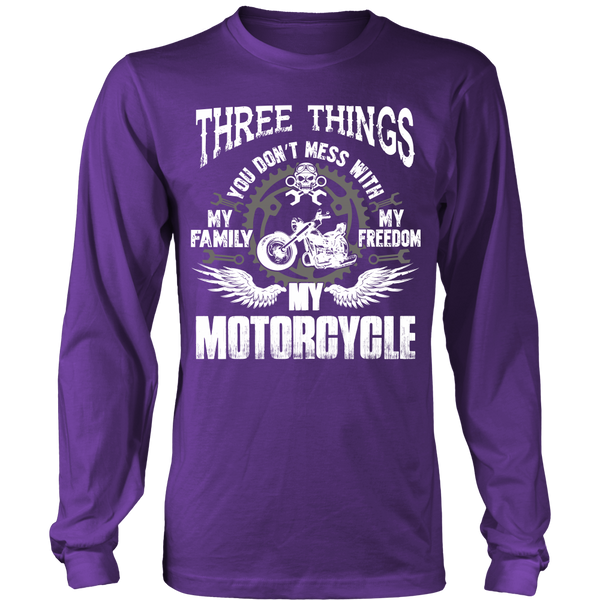 Three Things...My Motorcycle T-Shirt - Motorcycle Shirt - TeeAmazing - 7
