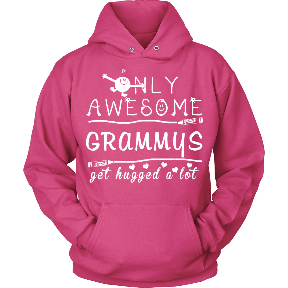 Only Awesome Grammy Get Hugged A Lot T-Shirt -  Grammy Shirt - TeeAmazing