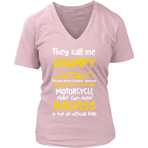 They Call Me Grumpy Motorcycle T-Shirt - Grumpy Motorcycle Shirt - TeeAmazing - 12