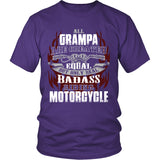 Created Equal Grampa Motorcycle T-Shirt - Grampa Motorcycle Shirt - TeeAmazing
