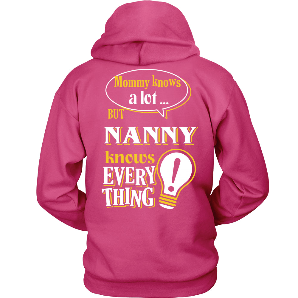Nanny Knows More T-Shirt -  Nanny Shirt - TeeAmazing