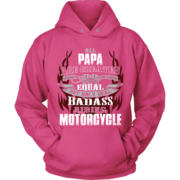 Created Equal Papa Motorcycle T-Shirt - Papa Motorcycle Shirt - TeeAmazing - 8