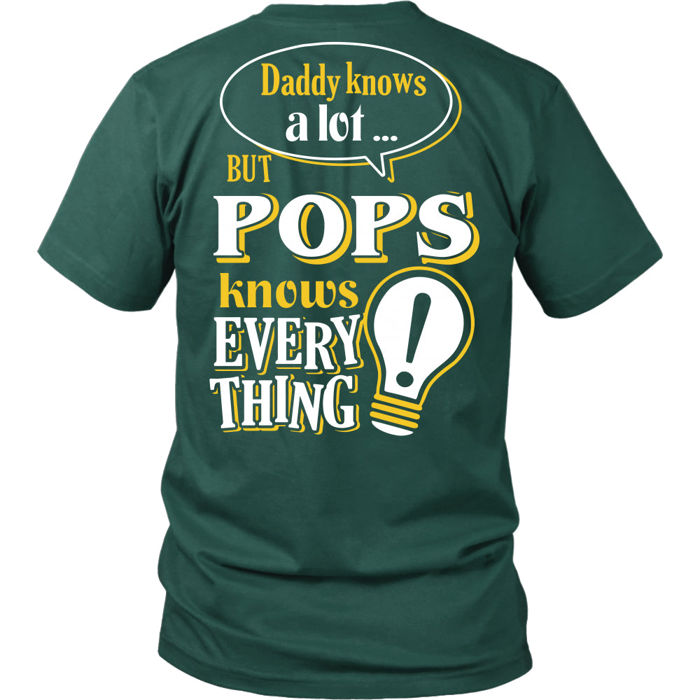 Pops Knows More T-Shirt -  Pops Shirt - TeeAmazing
