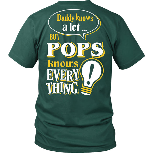 Pops Knows More T-Shirt -  Pops Shirt - TeeAmazing - 6