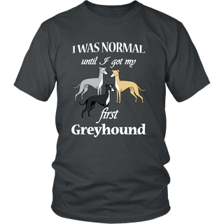 First Greyhound Dog T Shirts, Tees & Hoodies - Greyhound Shirts - TeeAmazing