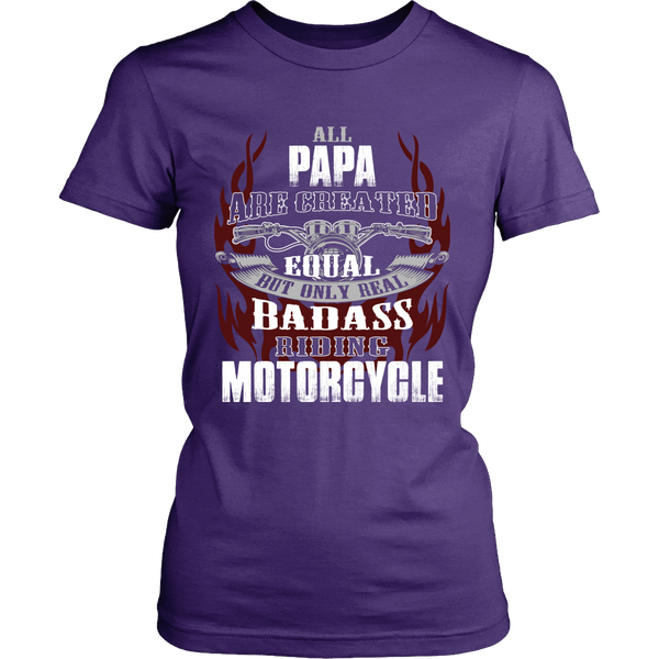 Created Equal Papa Motorcycle T-Shirt - Papa Motorcycle Shirt - TeeAmazing - 10