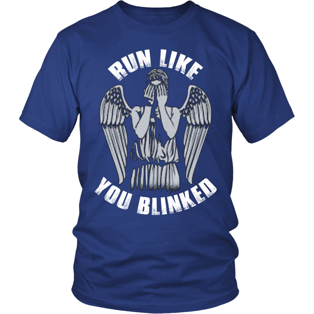 Run Like You Blinked T Shirts, Tees & Hoodies - Doctor Who Shirts - TeeAmazing