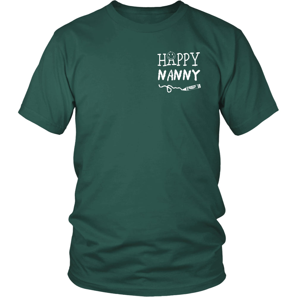 Happiness is Being Nanny T-Shirt - Nanny Shirt - TeeAmazing