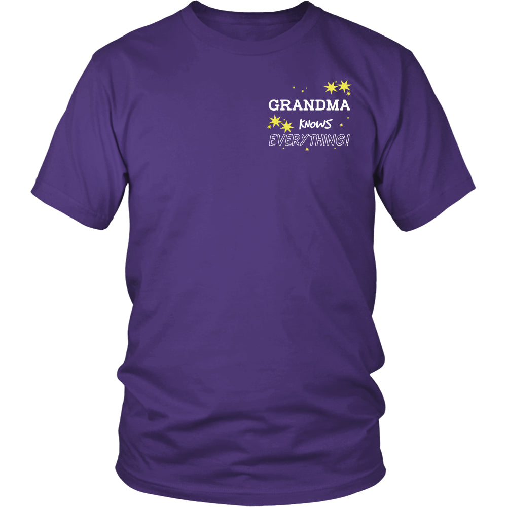 Grandma Knows Everything T-Shirt -  Grandma Shirt - TeeAmazing