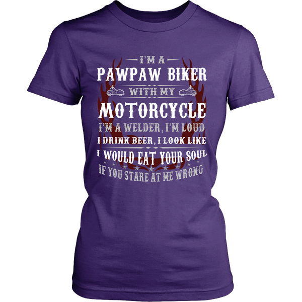 Pawpaw Biker With My Motorcycle T-Shirt - Pawpaw Motorcycle Shirt - TeeAmazing - 10