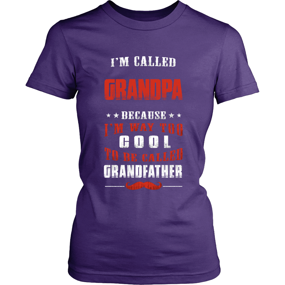 Grandpa Way Too Cool Grandfather T-Shirt - Grandpa Shirt - TeeAmazing