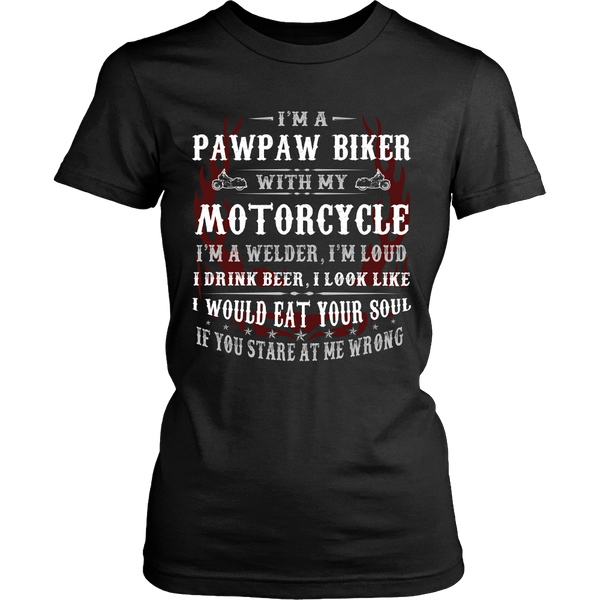 Pawpaw Biker With My Motorcycle T-Shirt - Pawpaw Motorcycle Shirt - TeeAmazing - 9