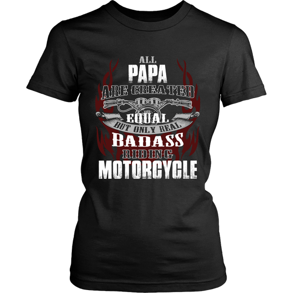 Created Equal Papa Motorcycle T-Shirt - Papa Motorcycle Shirt - TeeAmazing - 9