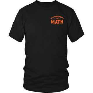 10 Commandments of Math - Math Shirt - TeeAmazing
