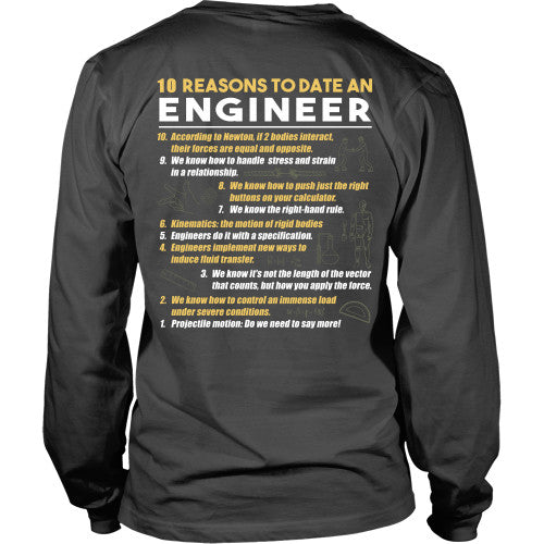 10 Reasons to date an engineer - Engineers Shirt - TeeAmazing - 15